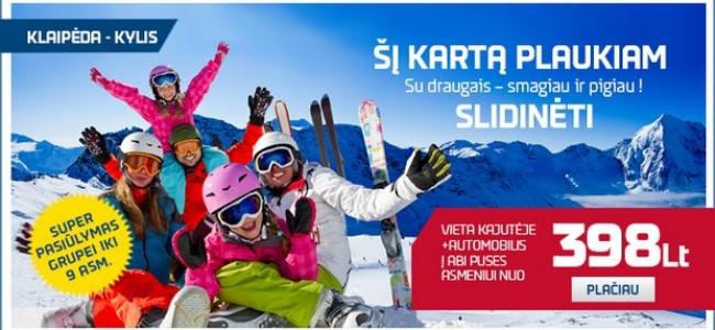 DFDS keltai iš Klaipėdos: akcija keliaujantiems slidinėti