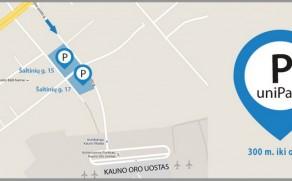 Parkavimas Kauno oro uoste 35% PIGIAU: savaitei tik 21 €! Tas pats UNIPARK parkavimas pas mus su nuolaidos kodu pigiau nei užsakant unipark.lt