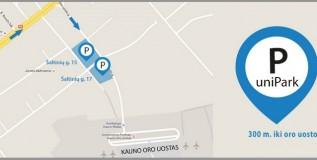 Parkavimas Kauno oro uoste 20% PIGIAU: savaitei tik 17 €! Tas pats UNIPARK parkavimas pas mus su nuolaidos kodu pigiau nei užsakant unipark.lt. DĖMESIO! Aikštelėse didelis užimtumas, užsisakykite iš anksto internetu, nes gali nebūti vietų!