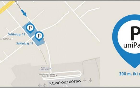 Parkavimas Kauno oro uoste 20% PIGIAU: savaitei tik 17 €! Tas pats UNIPARK parkavimas pas mus su nuolaidos kodu pigiau nei užsakant unipark.lt